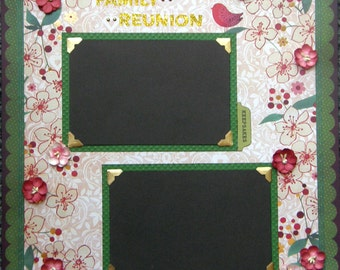 CLEARANCE 12x12 single page scrapbook layout Family Reunion