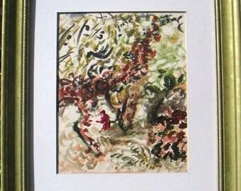 Vintage Expressionist Landscape Tobias painting