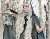 Winter Lullaby Elvish Beauty ACEO GLOSSY PRINT