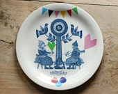 Folklore and fun breakfast plate 'Volendam', ready to be shipped