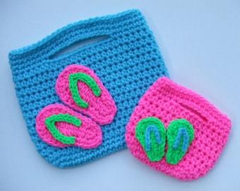Purse Crochet Pattern, Flip Flop Purses, Digital Download