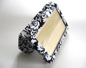 End of year sale Kindle Fire HD 7 Cover Stand Ready to ship Black and white damask