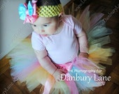 Baby Tutu only, 1st Birthday girl skirt and tutu photo prop, choose from sizes 0,3,6,9,12,18,24 months -PASTEL RAINBOW
