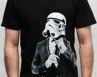 Smarttrooper - Mens t shirt  ( Star Wars / Storm trooper t shirt )