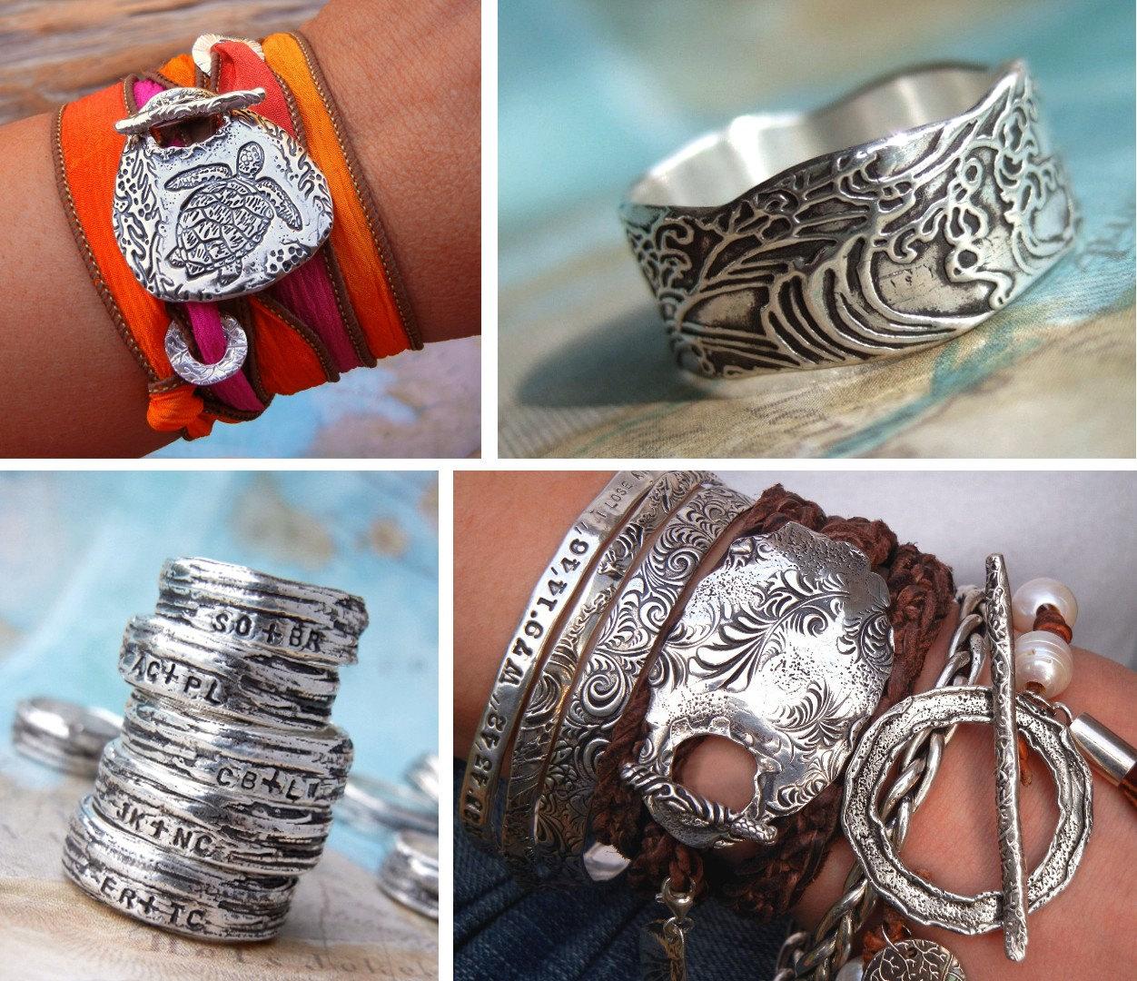 Artisan Jewelry Sterling Silver Fine Silver Dangle Earrings  |Newest Silver Artisan Jewelry