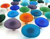 Two Beach Decor Sea Glass Cabinet Knobs Drawer Pulls