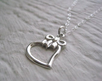 Sweetheart Necklace - Sterling Silver, Heart Pendant, Gift, Simple, Modern Jewelry