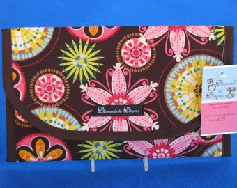Carnival Bloom Diaper and Wipes Case Holder Clutch