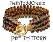 INSTANT Download Knit Bronze Bracelet Knitting Pattern PDF by BethToddCreatz Patterns on Etsy