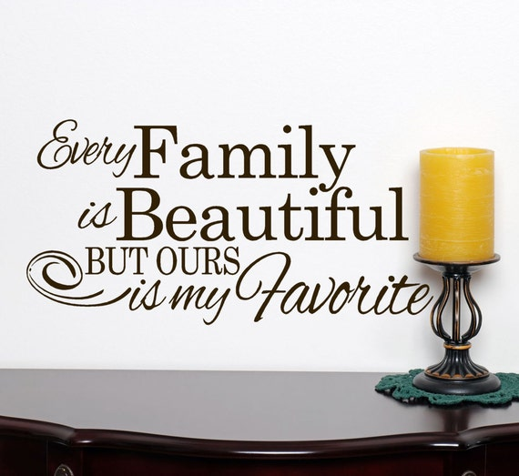 Items Similar To Family Wall Decal