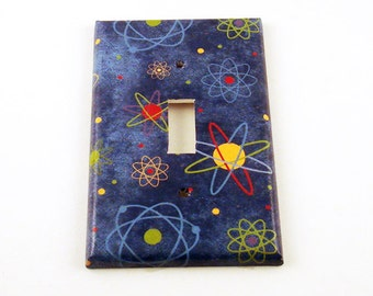 Switchplate Light Switch Cover  Switch Plate in Blue Atoms   (103S)