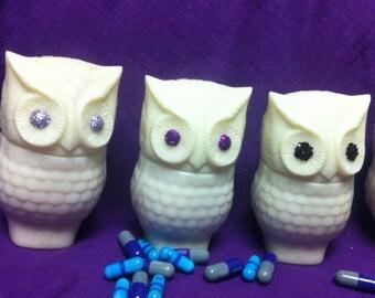 Glitter Eye Owl Stash Jar