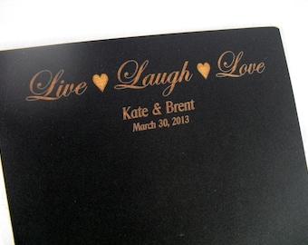 Personalized  Wedding Chalkboard - Live Laugh Love - Item 1499