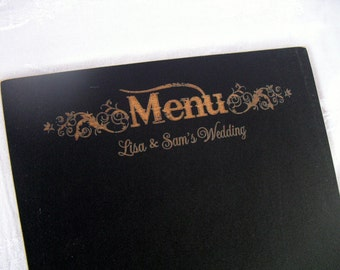 Personalized Western  Wedding Menu Chalkboard - Item 1500