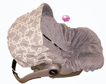 Infant Car Seat Cover, Baby Car Seat Cover in Baby Love Grey