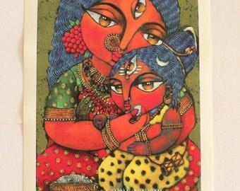 Maa Annapurna (Hindu Goddess of Nourishment) MAXI print