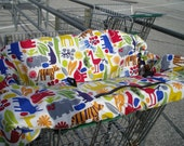 Shopping Cart cover  for boy or girl......2-D ZOO POOL Multi