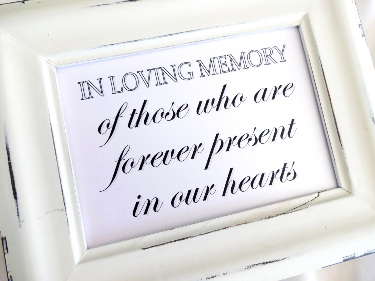 In loving memory sign wedding white or ivory for In loving memory wedding sign