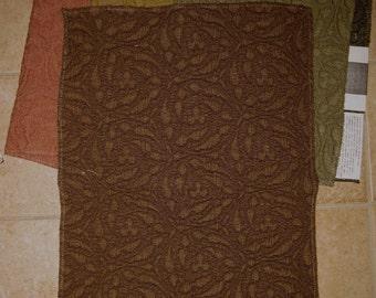 Pindler Intaglio Hearst Castle Matelasse Designer Fabric Samples 4 Pieces Lot Solid