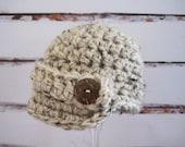 Crochet Baby Hat, Newborn, Baby Newsboy Hat, Newborn Newsboy Hat, Infant Newsboy Hat, Baby Boy Hat, Infant, Newborn Boy Hat, Baby Beanie,