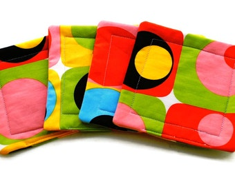 Handmade Quilted  Coasters set of 4 Mod Alexander Henry