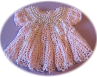 CROCHET PATTERN for Baby Girl Dress --Cotton Candy Baby Dress