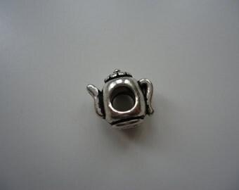 Silver Coloured Tea Pot Bracelet or Necklace Charm