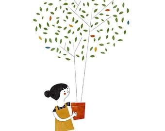 The gardener print