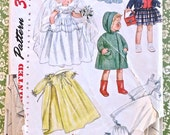Vintage 1950s Doll Clothes Pattern for 20 Inch Doll - Simplicity 3407