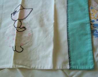 sweet baby size vintage pillow cases