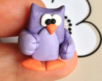 Mr Owl (Signor Gufetto) - A Little Polymer Clay Creation - No28