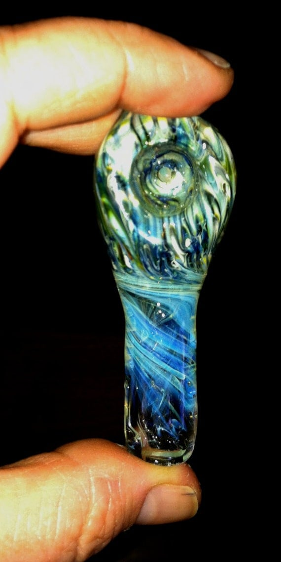 "Glass Tobacco Pipe 3"" Long"