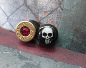 Double Sided Skull and Bullet Gauges 0g