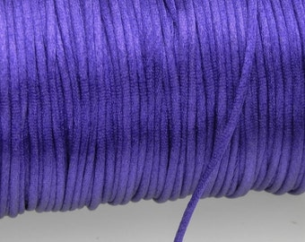 10 yards 2mm Purple Satin Rattail Cord