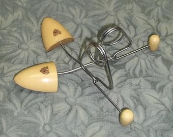 Vintage Art Deco 30s SIMPLEX Shoe Trees Shoe Stretchers....Wood & Metal