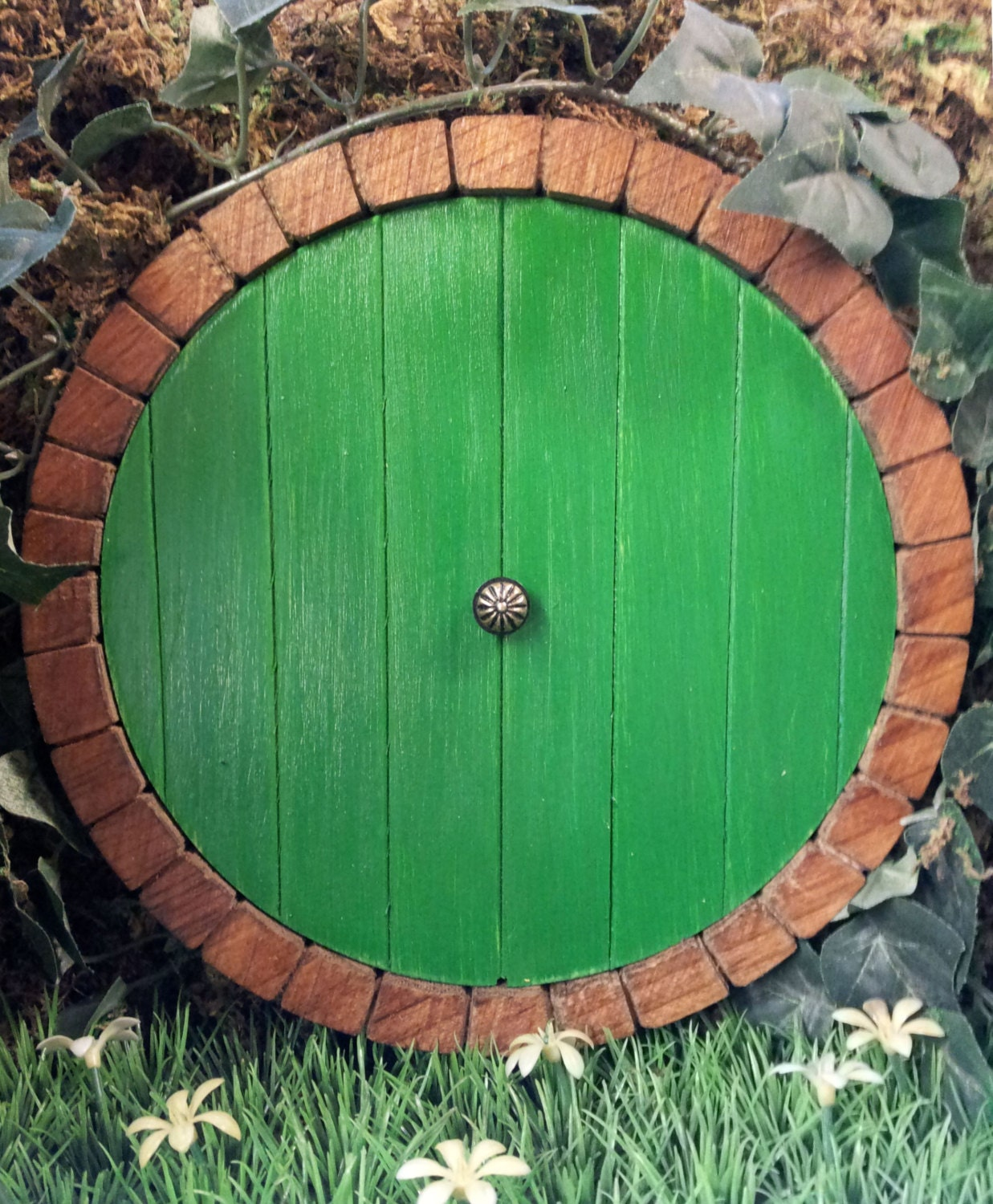 Middle earth hobbit door fairy door faerie doors by nothinbutwood