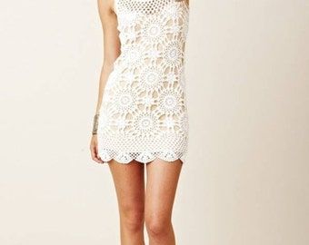 MADE TO ORDER  summer crochet dress  RI92- Replica