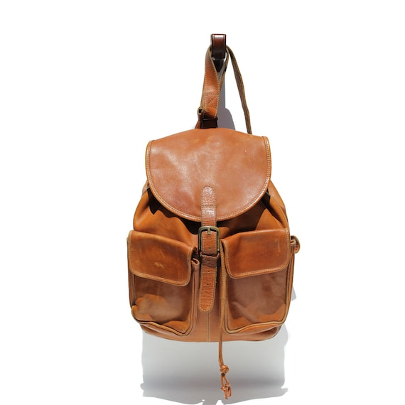 Spice Brown Leather Backpack Bag