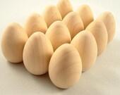 Wooden Easter Eggs - DIY Unfinished Wood Egg - Wood Egg - Wooden Egg - 18 Medium Wood Eggs