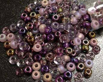 Lilac Mix Czech Seed Bead 6/o 6/O 6-mix01