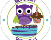 My First Birthday - Holiday Baby Milestone Waterproof Glossy Sticker - H02-0101