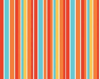 1/4 Yard Riley Blake Peak Hour Stripe Red, Quantities Available