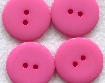 Azalea Pink Buttons Pink Acrylic Buttons 22mm (7/8 inch) Set of 4 /BT160
