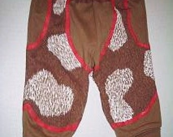 Baby Chaps Pants, Mock Chaps for Baby, Cowboy Pants With Chaps, Cowhide Look Chaps for Baby