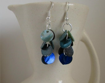 Stormy Seas Shell Dangle Earrings