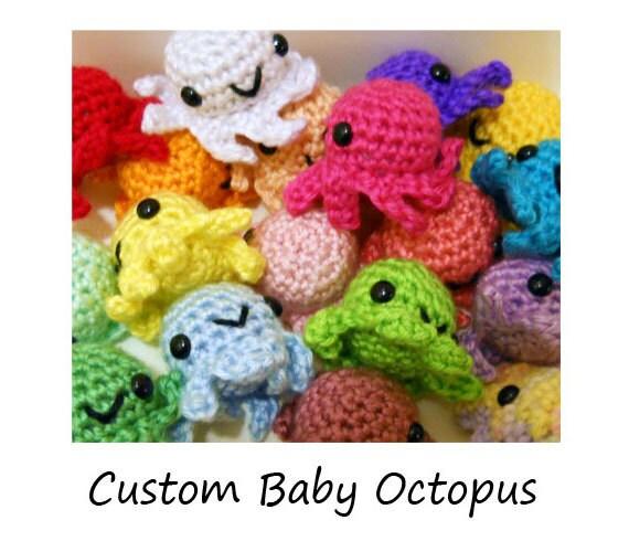 Custom Baby Octopus Amigurumi Crochet by SyppahsCuteCreations