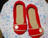 Crocheted Women's Slipper