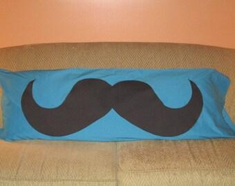 Mustache Body Pillowcase