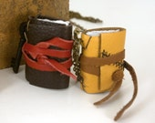 Locket for your Thoughts - Leather Book Necklace - Medieval Binding