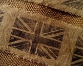 British Union Jack Hand Stamped Ribbon